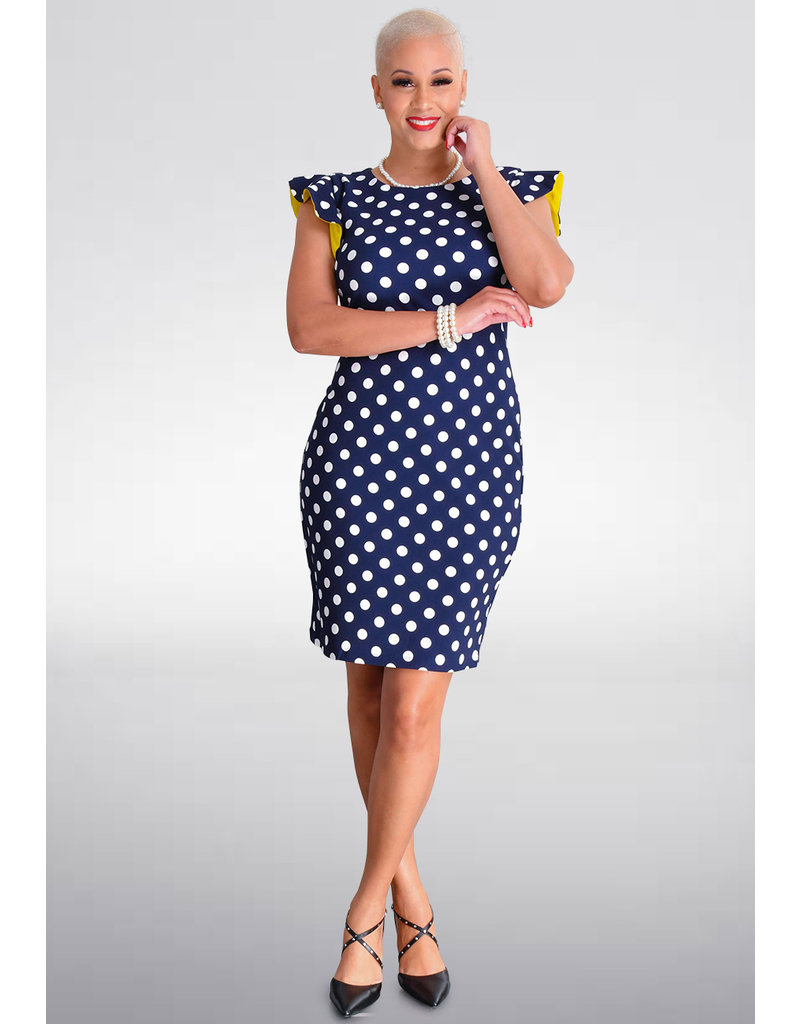 RESNIA- Polka Dot Contrast Dress