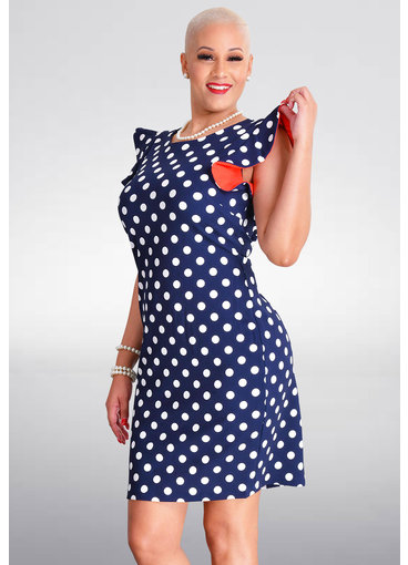 RESNIA- Polka Dot Contrast Dress