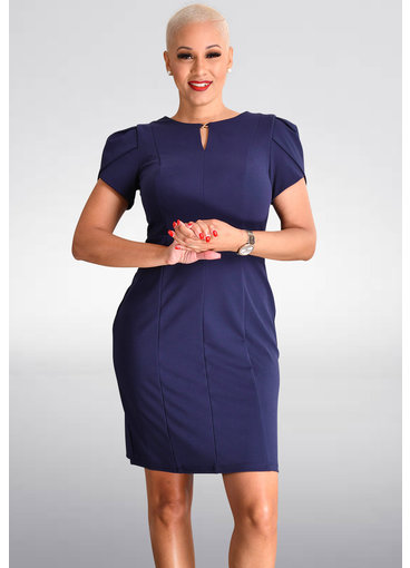 Shelby & Palmer RIPY- Short Sleeve Dress with X Clip