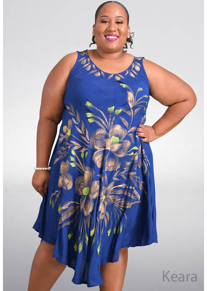 SEVEN ISLANDS KEARA- Plus Size Flower Print Hi-Lo Dress