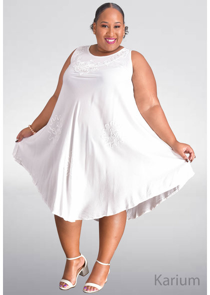 SEVEN ISLANDS KARIUM- Plus Size Armhole Tent Bottom Dress