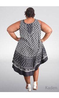 SEVEN ISLANDS KADEN-Plus Size Circle Print Tent Bottom Dress