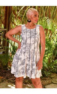 MSK XIDEAN- Floral Print Princess Seam