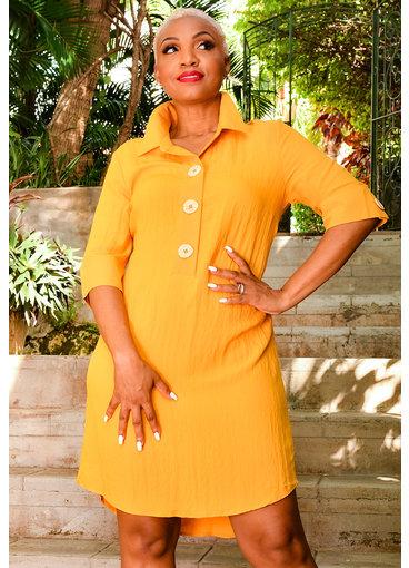 KIARA- Shirt Dress with Collar & 3 Buttons