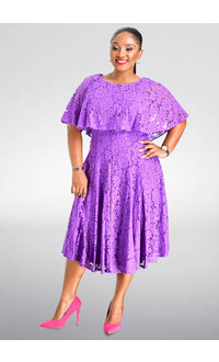 LIZA- Cape Lace Dress