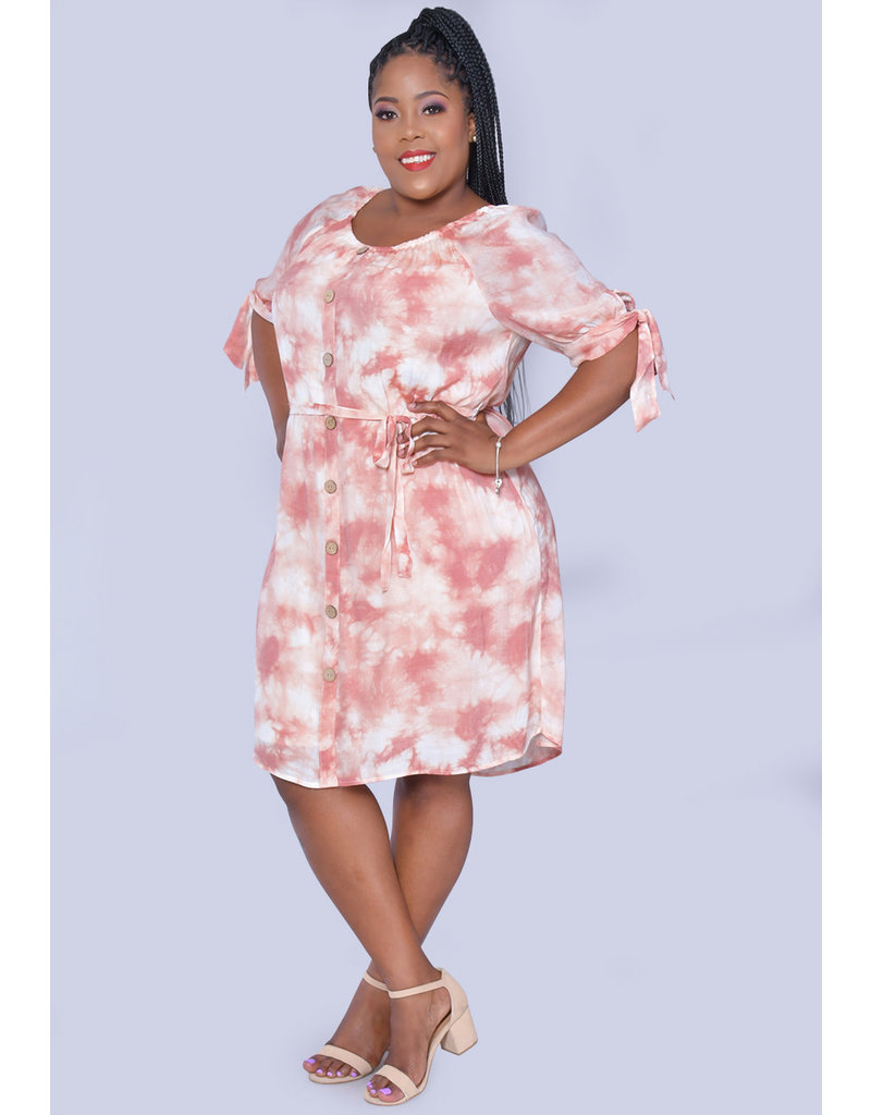 MLLE Gabrielle GRACE- Printed Shirt Dress with Pockets