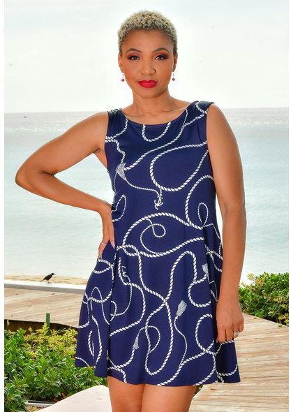 Nina Leonard ISASS- Printed Dress with Pockets