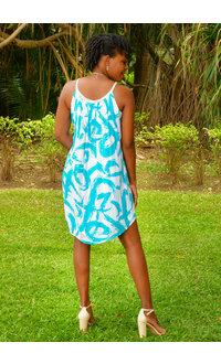Nina Leonard GERI- Braided Strap Trapeze Dress
