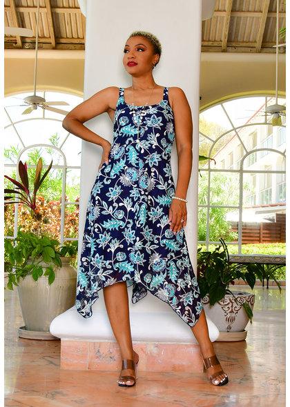 Nina Leonard LERONA-Strappy Printed Dress