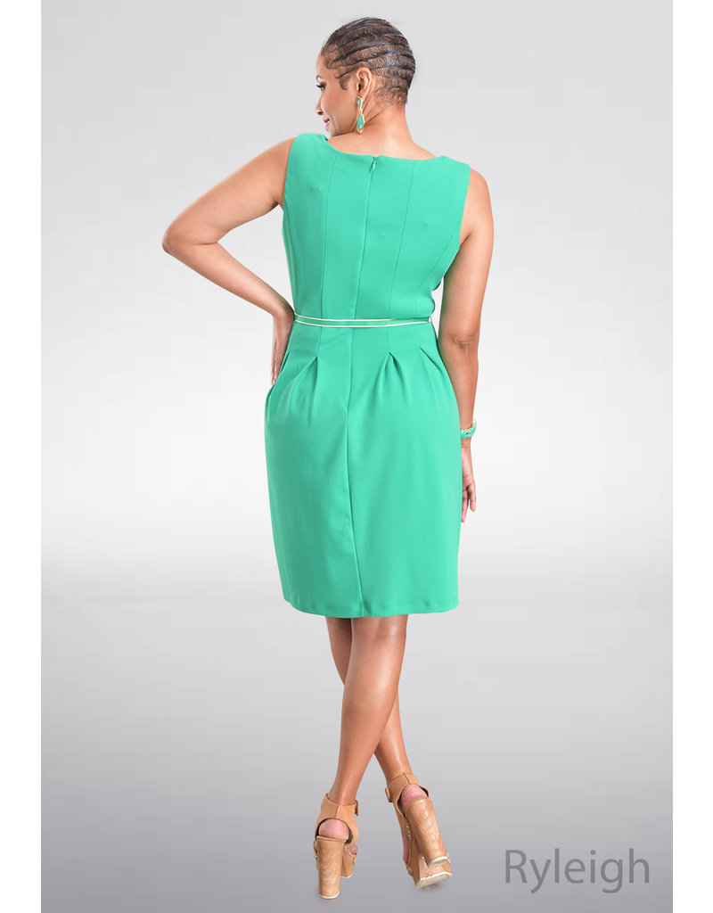 RYLEIGH- Fit and Flare Dress with Belt