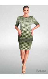 RATARA- Circle Printed Dress