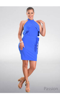 Bebe PASSION- Halter Dress with Ruffle