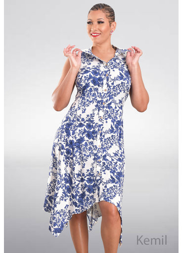 MSK KEMIL- Printed Handkerchief T-Shirt Dress