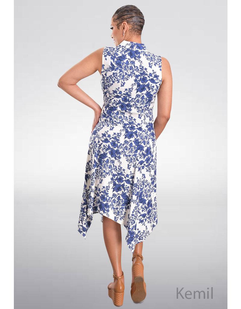 MSK KEMIL- Printed Handkerchief T-Shirt Dress