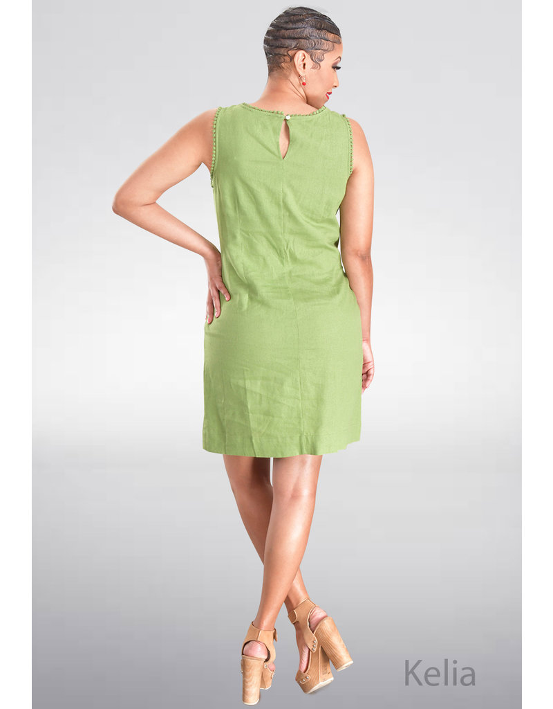 KELIA- Sleeveless Linen Dress
