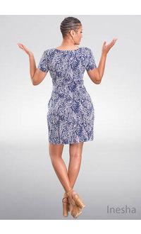INESHA-  Floral Puff Print Dress