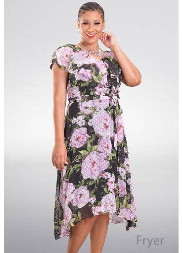 Julia Jordan FRYER- Printed Fit and Flare Dress