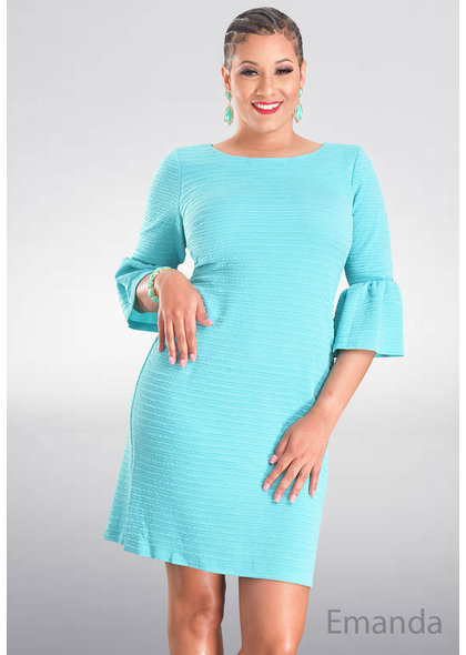 EMANDA- Bell Sleeve Dress