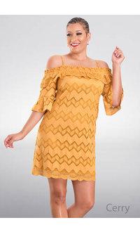 Violet Weekend CERRY- Cold Shoulder Crochet Dress