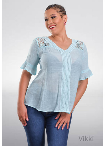 ZAC & RACHEL VIKKI- V-Neck Top with Crochet