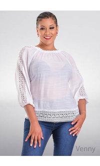 ZAC & RACHEL VENNY- Off Shoulder Top with Crochet Hem