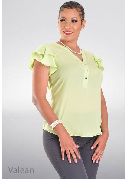 ZAC & RACHEL VALEAN- Solid Layered Sleeve Top