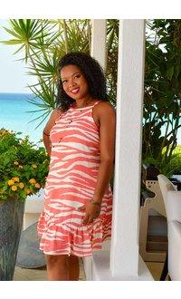 GENYA- Strappy Print Dress