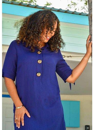 KYLEE- Smart Collar Shirt Dress