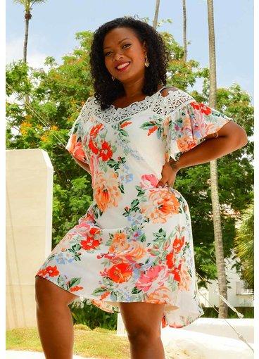 A U W KOLA- Floral Strappy Dress