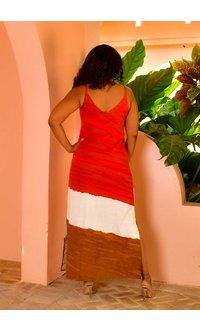 MSK KIMBER- Color Block Strappy Dress
