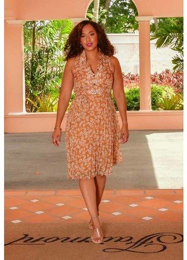 Sandra Darren FAHAN- Pleated Shirt Dress