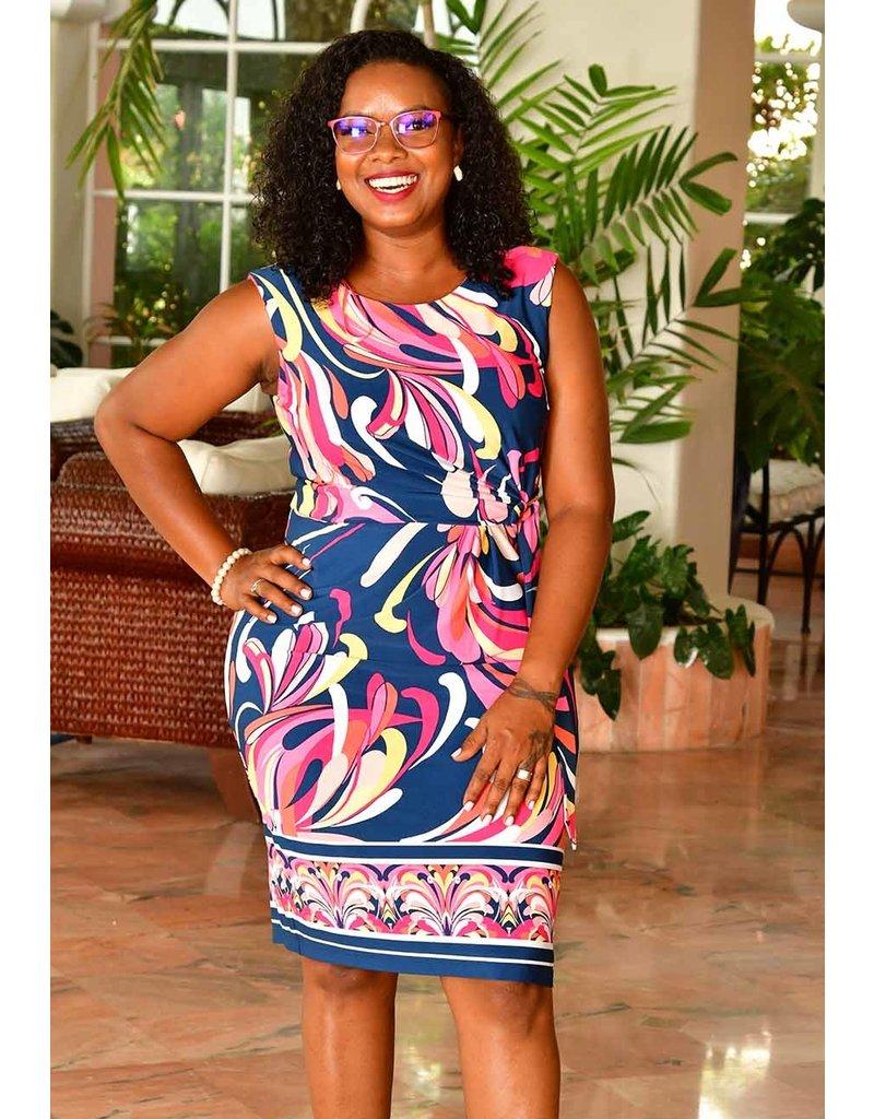 Sandra Darren ISHANY- Armhole Printed Faux Dress