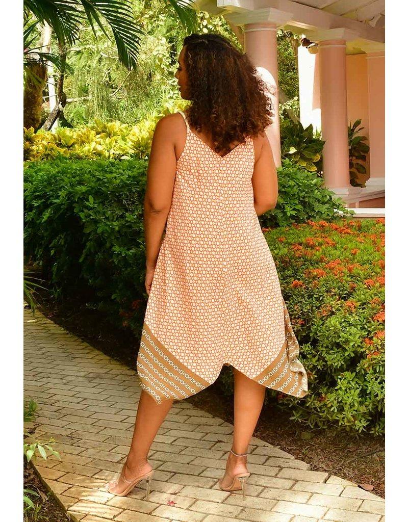 MSK KETARA- Printed Handkerchief Dress