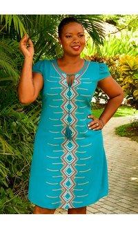 KITA- Embroidered Shift Dress