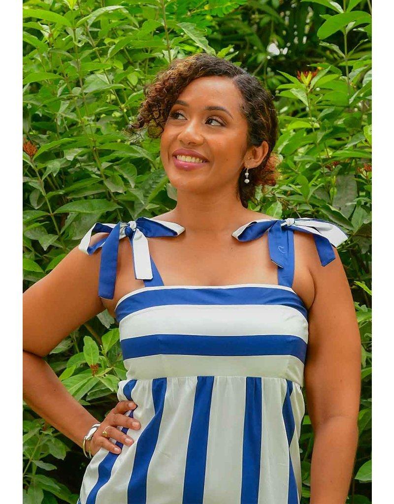 MSK KEMO- Strappy Stripe Dress