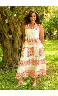 MSK KELMA- Tribal Print Maxi Dress