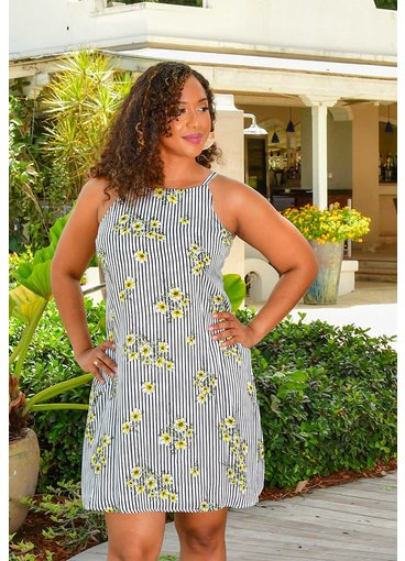 KANUS- Printed Strappy Dress