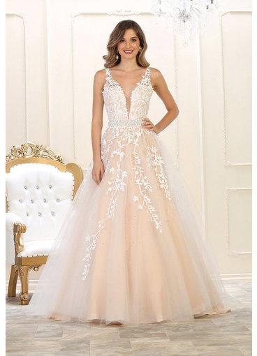 QUORRA- Bridal Two Tone Dress