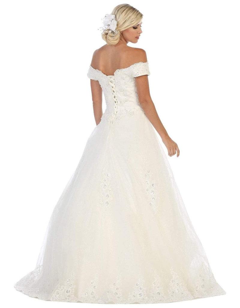 QUINZEL- Off-Shoulder Bridal Dress