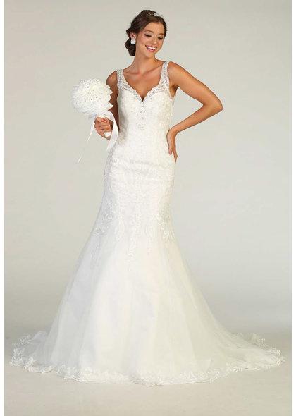 QIANA- Broad Strap Bridal Dress