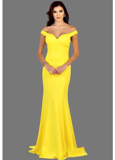 QUENBY- Off-Shoulder V-Neck Dress
