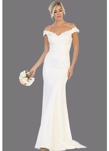 QUINCI- Off-Shoulder Bridal Dress