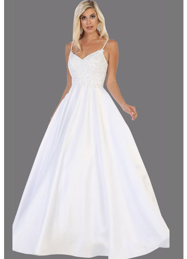 QUAN- Spaghetti Strap Bridal Dress