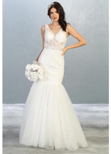 QUILL- Broad Strap Bridal Dress