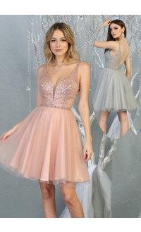 QUANAH- Short Broad Strap Dress