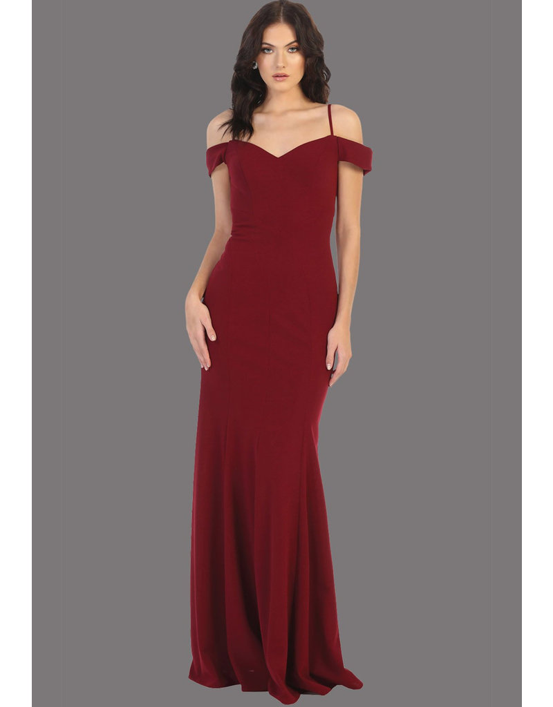 QUIMBY- Off-Shoulder Dress with Thin Strap