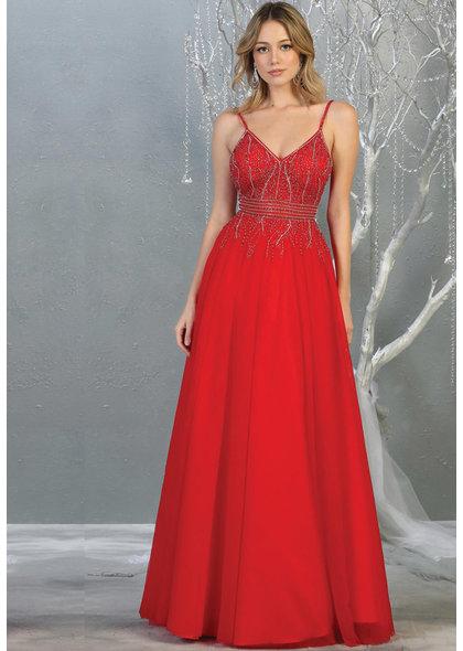 QUITA- Long Dress with Spaghetti Straps