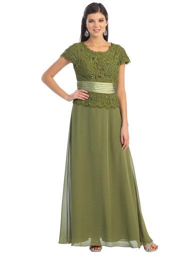 QUINLEY- Lace Top Cap Sleeve Dress