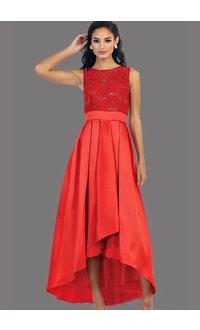 QUELLA- Broad Strap Hi-Lo Dress