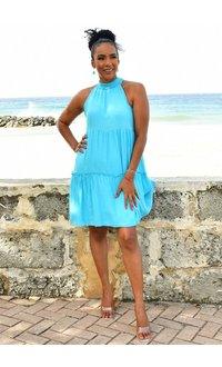 MLLE Gabrielle GEORGE- Solid Halter Dress